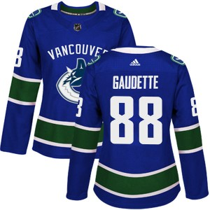 Women's Vancouver Canucks Adam Gaudette Adidas Authentic Home Jersey - Blue