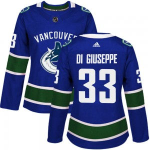 Women's Vancouver Canucks Phillip Di Giuseppe Adidas Authentic Home Jersey - Blue