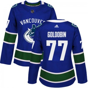 Women's Vancouver Canucks Nikolay Goldobin Adidas Authentic Home Jersey - Blue