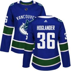 Women's Vancouver Canucks Nils Hoglander Adidas Authentic Home Jersey - Blue