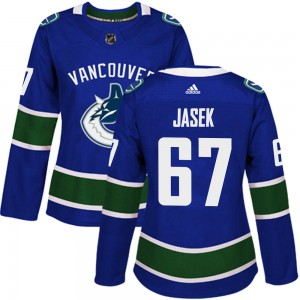 Women's Vancouver Canucks Lukas Jasek Adidas Authentic Home Jersey - Blue