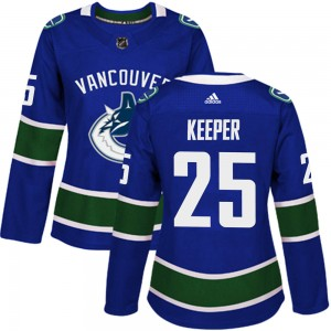 Women's Vancouver Canucks Brady Keeper Adidas Authentic Home Jersey - Blue
