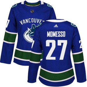 Women's Vancouver Canucks Sergio Momesso Adidas Authentic Home Jersey - Blue