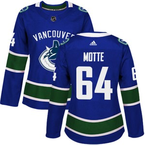 Women's Vancouver Canucks Tyler Motte Adidas Authentic Home Jersey - Blue