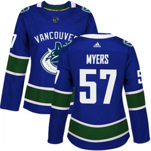 Women's Vancouver Canucks Tyler Myers Adidas Authentic Home Jersey - Blue