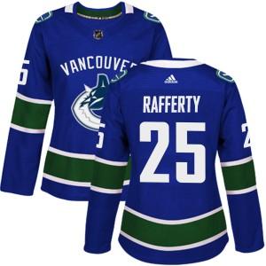 Women's Vancouver Canucks Brogan Rafferty Adidas Authentic Home Jersey - Blue