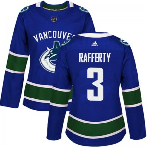 Women's Vancouver Canucks Brogan Rafferty Adidas Authentic Home Jersey - Blue