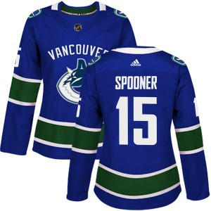 Women's Vancouver Canucks Ryan Spooner Adidas Authentic Home Jersey - Blue