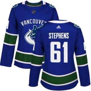 Women's Vancouver Canucks Devante Stephens Adidas Authentic Home Jersey - Blue