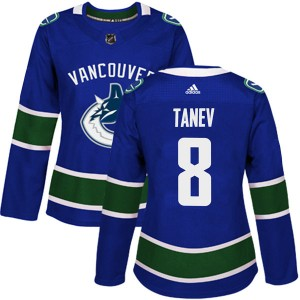 Women's Vancouver Canucks Chris Tanev Adidas Authentic Home Jersey - Blue