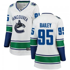 Women's Vancouver Canucks Justin Bailey Fanatics Branded Breakaway Away Jersey - White