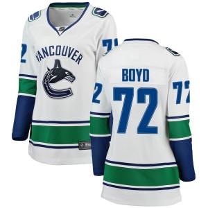 Women's Vancouver Canucks Travis Boyd Fanatics Branded Breakaway Away Jersey - White
