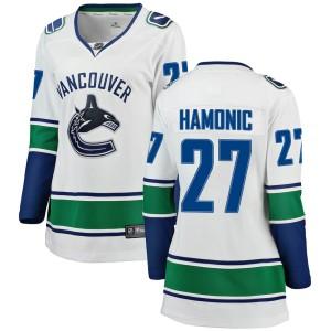 Women's Vancouver Canucks Travis Hamonic Fanatics Branded Breakaway Away Jersey - White