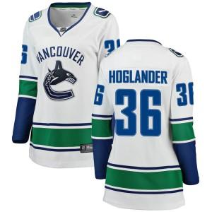 Women's Vancouver Canucks Nils Hoglander Fanatics Branded Breakaway Away Jersey - White