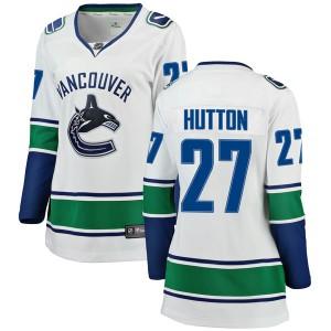 Women's Vancouver Canucks Ben Hutton Fanatics Branded Breakaway Away Jersey - White