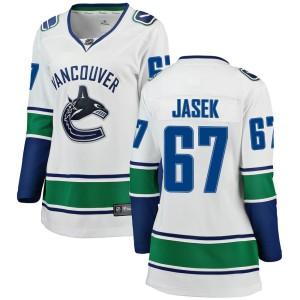Women's Vancouver Canucks Lukas Jasek Fanatics Branded Breakaway Away Jersey - White