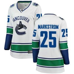 Women's Vancouver Canucks Jacob Markstrom Fanatics Branded Breakaway Away Jersey - White