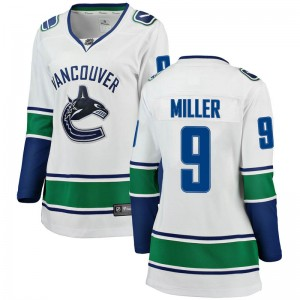 Women's Vancouver Canucks J.T. Miller Fanatics Branded Breakaway Away Jersey - White