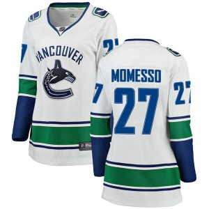 Women's Vancouver Canucks Sergio Momesso Fanatics Branded Breakaway Away Jersey - White
