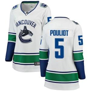 Women's Vancouver Canucks Derrick Pouliot Fanatics Branded Breakaway Away Jersey - White