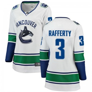 Women's Vancouver Canucks Brogan Rafferty Fanatics Branded Breakaway Away Jersey - White
