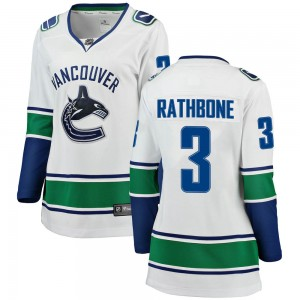Women's Vancouver Canucks Jack Rathbone Fanatics Branded Breakaway Away Jersey - White