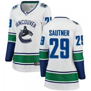 Women's Vancouver Canucks Ashton Sautner Fanatics Branded Breakaway Away Jersey - White