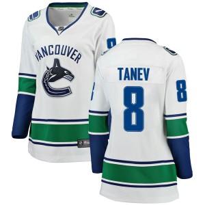Women's Vancouver Canucks Chris Tanev Fanatics Branded Breakaway Away Jersey - White