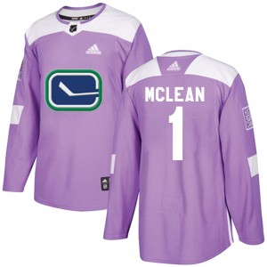 Men's Vancouver Canucks Kirk Mclean Adidas Authentic Fights Cancer Practice Jersey - Purple