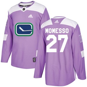 Men's Vancouver Canucks Sergio Momesso Adidas Authentic Fights Cancer Practice Jersey - Purple