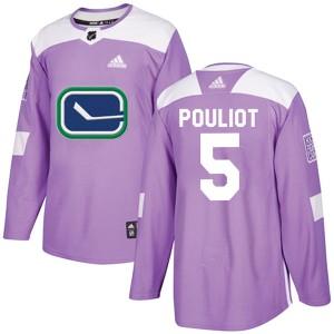 Men's Vancouver Canucks Derrick Pouliot Adidas Authentic Fights Cancer Practice Jersey - Purple
