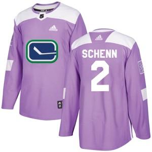 Men's Vancouver Canucks Luke Schenn Adidas Authentic Fights Cancer Practice Jersey - Purple