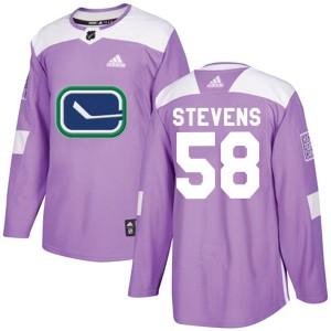 Men's Vancouver Canucks John Stevens Adidas Authentic Fights Cancer Practice Jersey - Purple