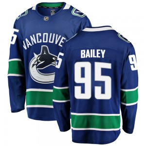 Men's Vancouver Canucks Justin Bailey Fanatics Branded Breakaway Home Jersey - Blue
