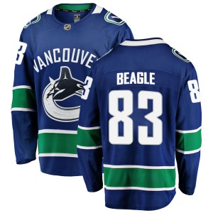 Men's Vancouver Canucks Jay Beagle Fanatics Branded Breakaway Home Jersey - Blue