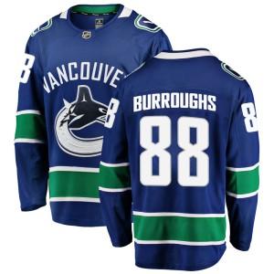 Men's Vancouver Canucks Kyle Burroughs Fanatics Branded Breakaway Home Jersey - Blue