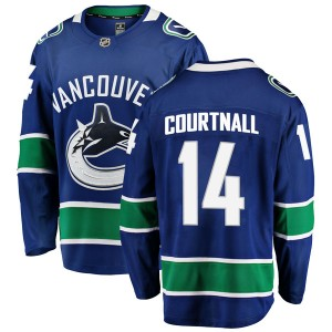 Men's Vancouver Canucks Geoff Courtnall Fanatics Branded Breakaway Home Jersey - Blue