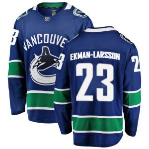 Men's Vancouver Canucks Oliver Ekman-Larsson Fanatics Branded Breakaway Home Jersey - Blue