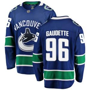 Men's Vancouver Canucks Adam Gaudette Fanatics Branded Breakaway Home Jersey - Blue
