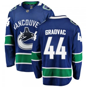 Men's Vancouver Canucks Tyler Graovac Fanatics Branded Breakaway Home Jersey - Blue