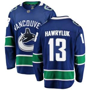 Men's Vancouver Canucks Jayce Hawryluk Fanatics Branded Breakaway Home Jersey - Blue