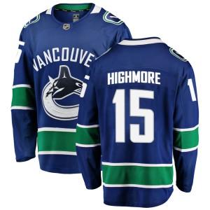 Men's Vancouver Canucks Matthew Highmore Fanatics Branded Breakaway Home Jersey - Blue