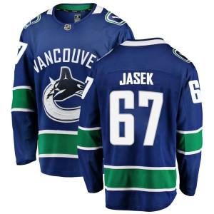 Men's Vancouver Canucks Lukas Jasek Fanatics Branded Breakaway Home Jersey - Blue