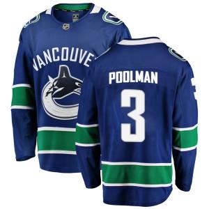 Men's Vancouver Canucks Tucker Poolman Fanatics Branded Breakaway Home Jersey - Blue