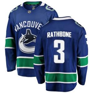 Men's Vancouver Canucks Jack Rathbone Fanatics Branded Breakaway Home Jersey - Blue