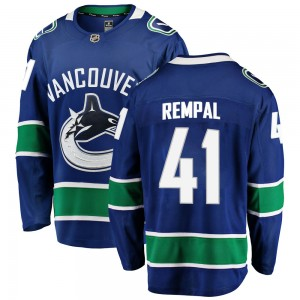 Men's Vancouver Canucks Sheldon Rempal Fanatics Branded Breakaway Home Jersey - Blue