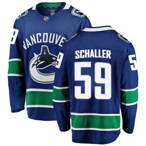 Men's Vancouver Canucks Tim Schaller Fanatics Branded Breakaway Home Jersey - Blue