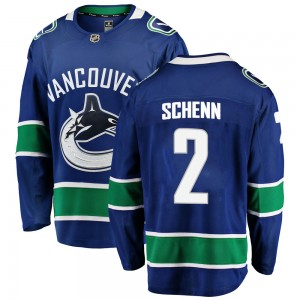 Men's Vancouver Canucks Luke Schenn Fanatics Branded Breakaway Home Jersey - Blue