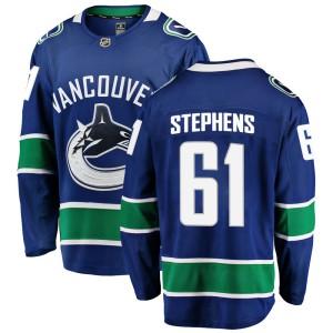Men's Vancouver Canucks Devante Stephens Fanatics Branded Breakaway Home Jersey - Blue