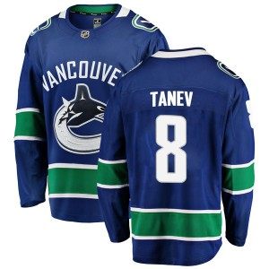 Men's Vancouver Canucks Chris Tanev Fanatics Branded Breakaway Home Jersey - Blue